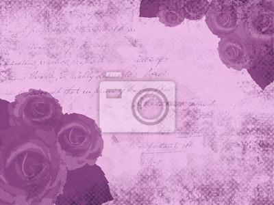 Fototapeta Fioletowym tle grunge z róż
