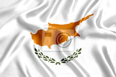 Fototapeta Flag of Cyprus Silk