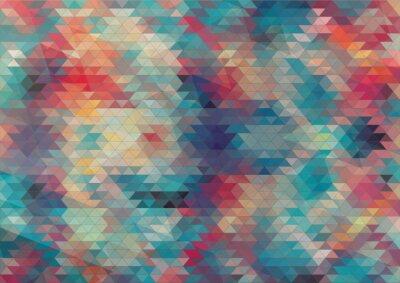 Fototapeta flat design geometric colorful background