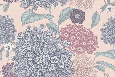Fototapeta Floral pastel color background. Vintage seamless pattern. Vintage. Vector.