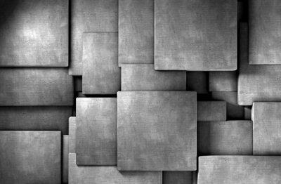 Fototapeta Fondo abstracto 3d, Bloques de cemento