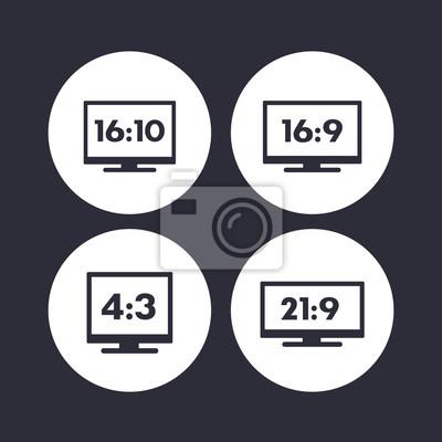 format obrazu ikony na bia ym tle 16 9 16 10 4 3 21. Black Bedroom Furniture Sets. Home Design Ideas