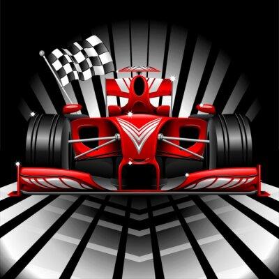 Fototapeta Formuła 1 Race Car i Cambodia Flag