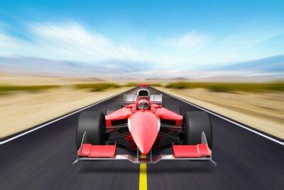 Fototapeta Formula race red car