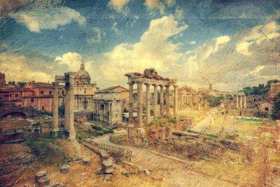 Fototapeta Foro Romano. Rzym. Włochy.