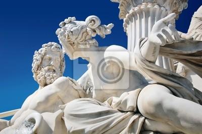 Fragment fontanny Athene z przodu austriackiego parlamentu