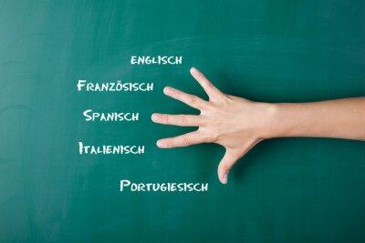 Fototapeta Fremdsprachen
