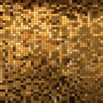 Fototapeta Funkelnde goldene Pailletten - Gold Vektor Grafik - musujące złote cekiny - Grafika wektorowa Złoto