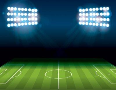 Fototapeta Futbol amerykański Pole Illuminated Ilustracja Soccer