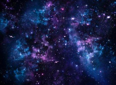 Fototapeta Galaxy, streszczenie niebieskim tle