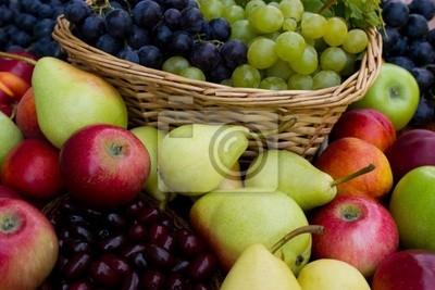 Fototapeta Garść świeżych owoców