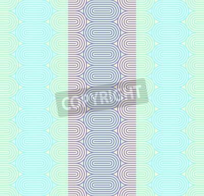 Fototapeta Geometria bezszwowe tło wzór z linii i owalny kształt.