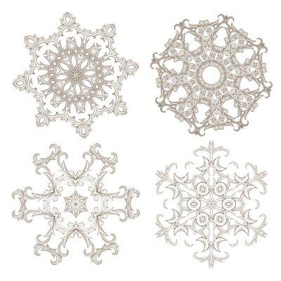 Fototapeta Geometryczne ozdoba cykliczne zestawu.