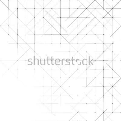 Fototapeta Geometryczne proste minimalistyczne tło. Trójkąty kropkowany wzór. Ilustracji wektorowych