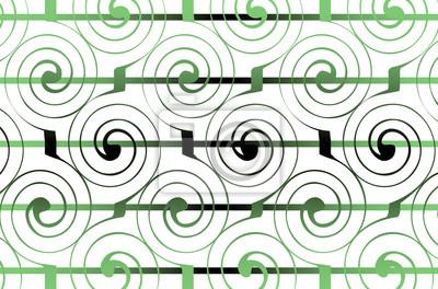 Fototapeta Geometryczne spirale ozdoba