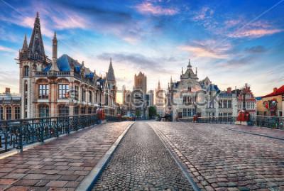 Fototapeta Ghent, Belgia w dzień, Ghent stare miasto