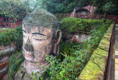 Fototapeta Giant Buddha (Da fo) - Leshan, Syczuan, Chiny