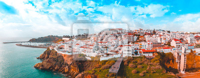 Fototapeta giant panorama about albufeira at portugal