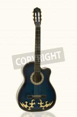Fototapeta gitara elektryczna na białym tle