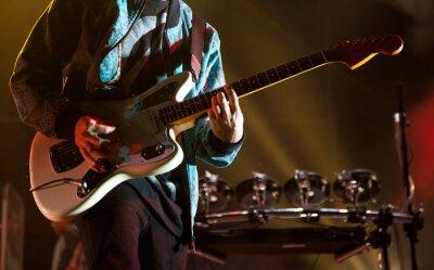 Fototapeta Gitarzysta na scenie
