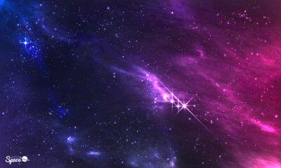 Fototapeta Głęboka przestrzeń. Ilustracji wektorowych kosmicznym mgławicy z gromady gwiazd.