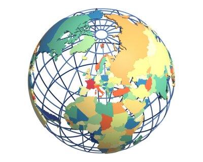 Fototapeta Globe polityczna koncentruje się na Europie