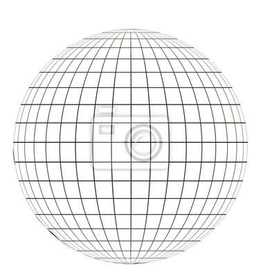 Fototapeta Globus Z Sieci