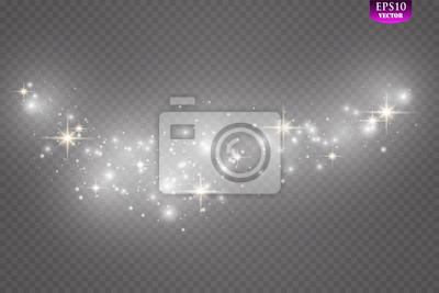Fototapeta Glow light effect. Vector illustration. Christmas flash Concept.