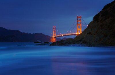 Fototapeta Golden Gate Bridge w Baker Beach w San Francisco, Kalifornia, USA
