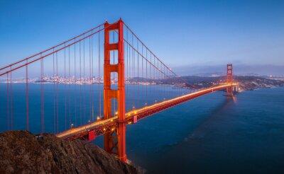 Fototapeta Golden Gate Bridge w zmierzchu, San Francisco, Kalifornia, USA