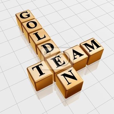 Fototapeta Golden Team Krzyżówka