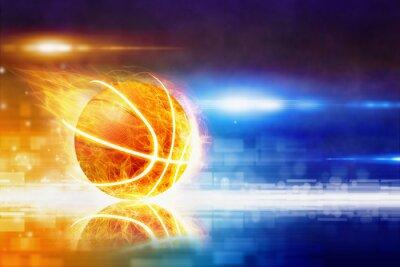 Fototapeta Gorący spalanie koszykówki