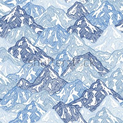 Fototapeta Góry bez użycia deseń. Zabawa góry abstrakcyjna ilustracja. Ilustracji wektorowych