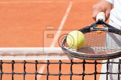 Tenisista z rakietą