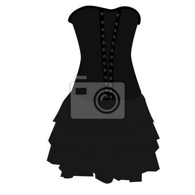 55058c73 Fototapeta: Gotycka sukienka