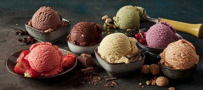 Fototapeta Gourmet summer dessert of artisanal ice cream