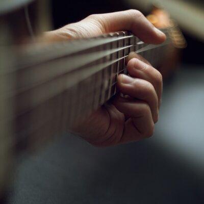 Fototapeta gra na gitarze elektrycznej