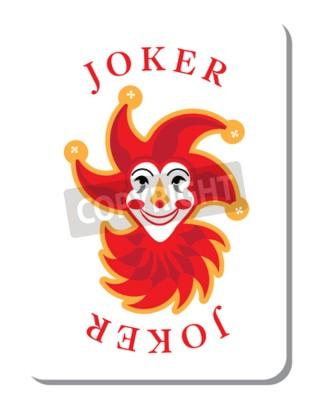 Gra W Karty Z Jokerem Z Talii Kart Do Gry Fototapeta Fototapety