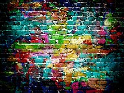Fototapeta Graffiti mur ceglany