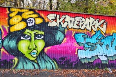 Fototapeta Graffiti mur w Niemczech
