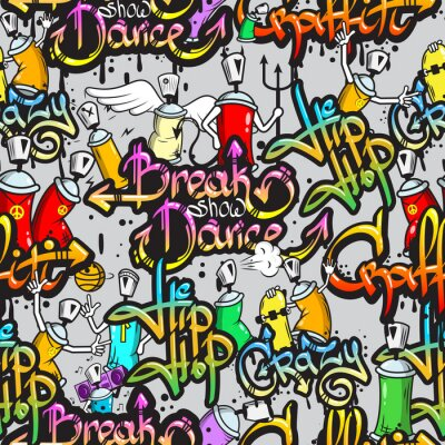 Fototapeta Graffiti znaków szwu