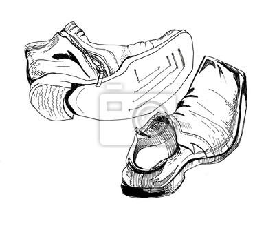 1c5ed0d6b5b Fototapeta: Graficzny szkic obuwia męskiego