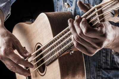 Fototapeta grając na basie ukulele