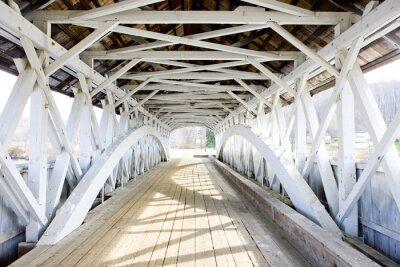 Fototapeta Groveton Covered Bridge (1852), New Hampshire, USA