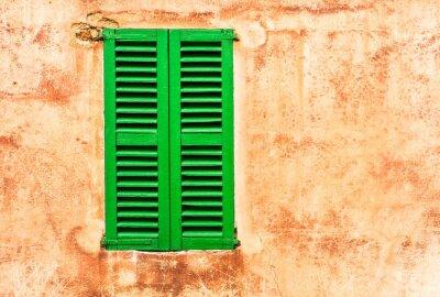 Fototapeta Grüne Haus Fensterladen Wand Mediterran Wohnen