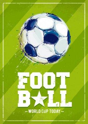 Fototapeta Grunge Football Poster