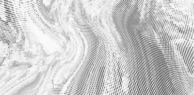 Fototapeta Grunge halftone dots pattern texture background