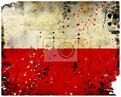 Fototapeta Grunge Polska flaga