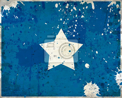 Fototapeta Grunge Somalia flag z plamami