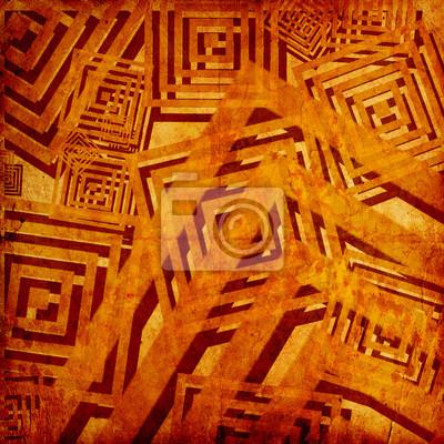 Fototapeta grunge tła z kwadratów